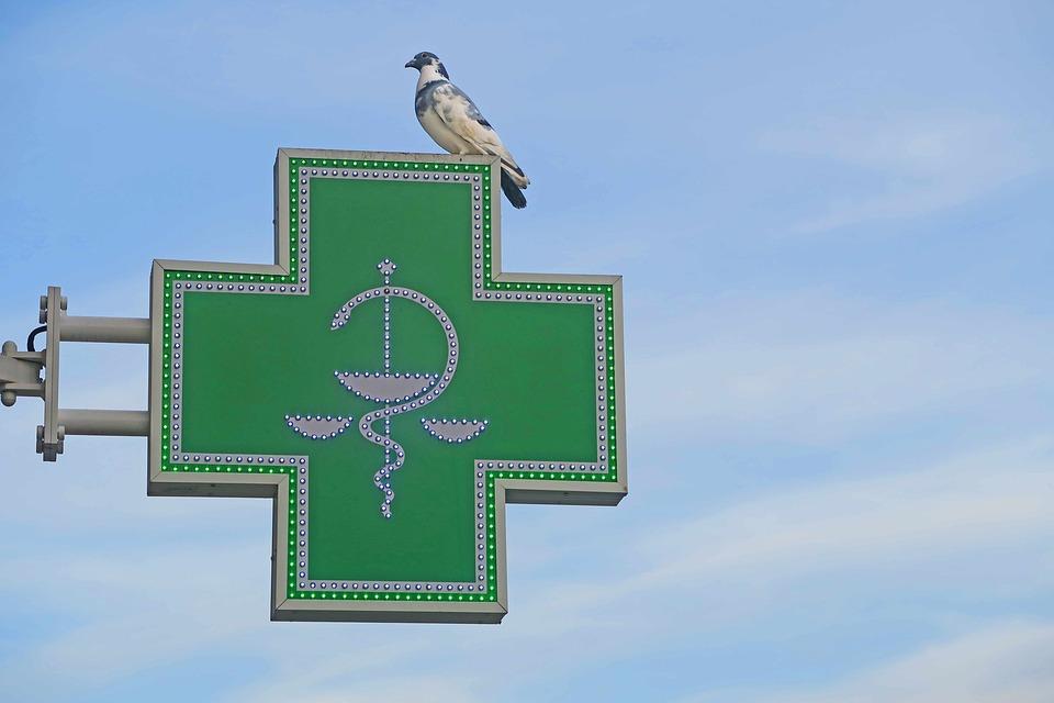 Dove, Sky, Pharmacy, Cross, Advertisement, Bird