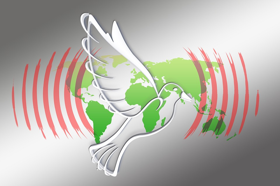 Global, Dove, Harmony, Peace Dove, World Peace, Fly