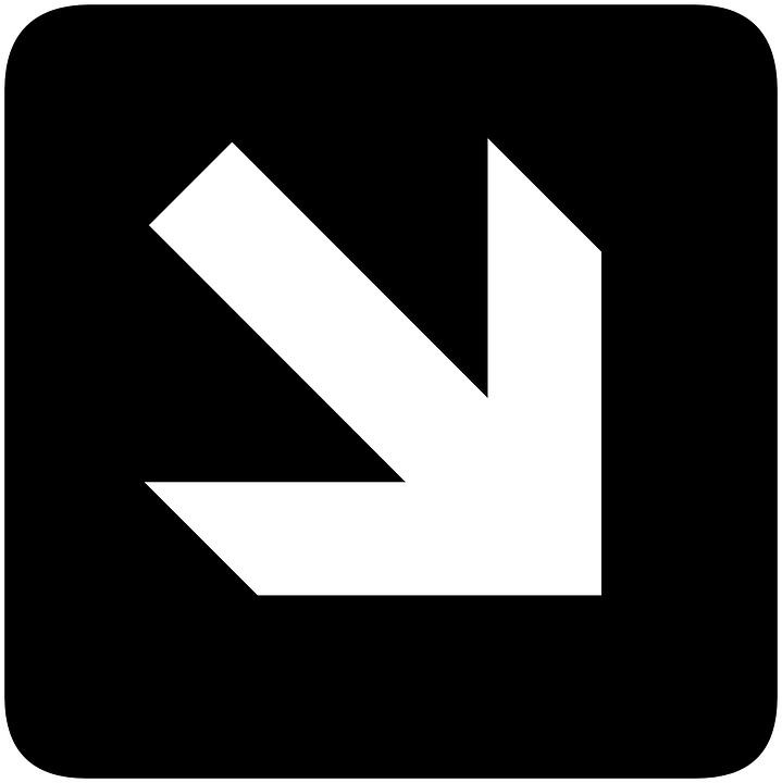 Right, Arrow, Down, Direction, Information, Southeast