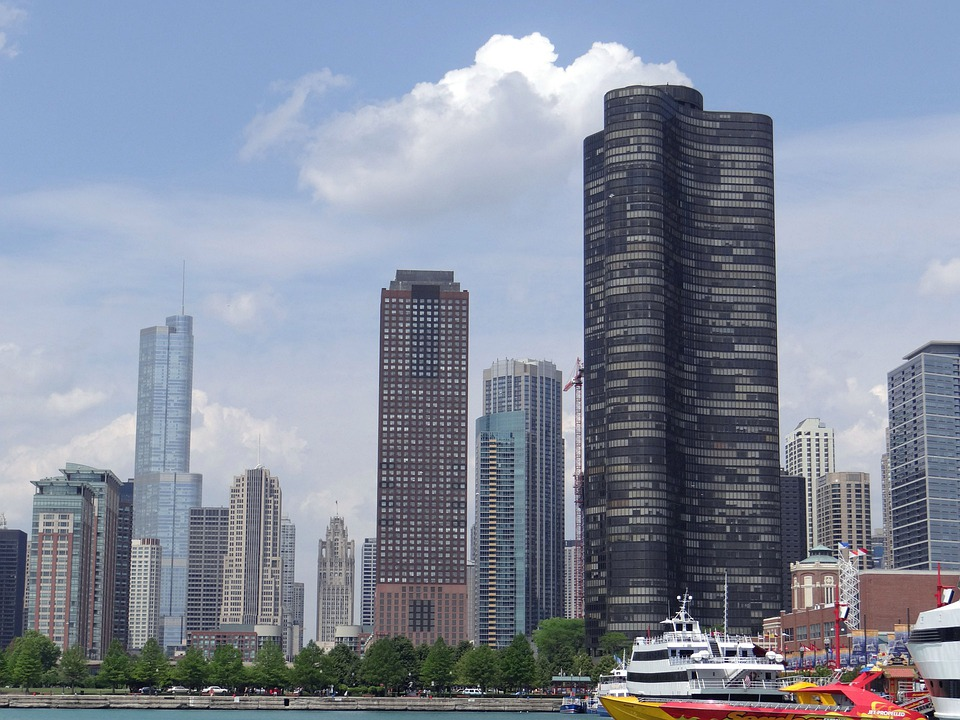 Chicago, Downtown, Skyline, Buildings, Architecture