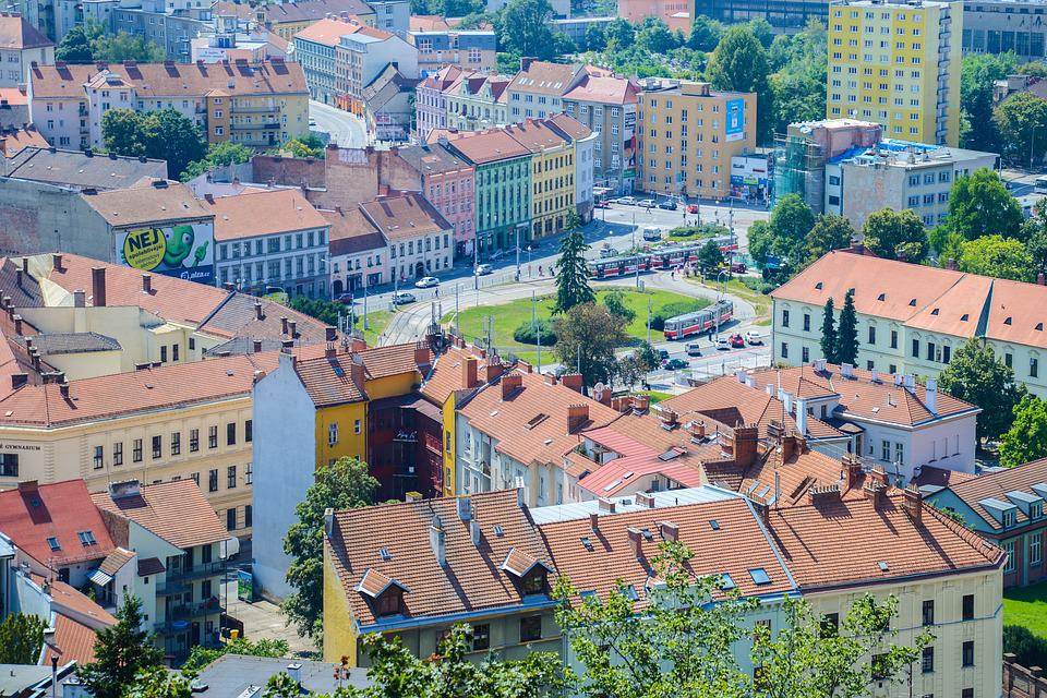 Brno, City, Downtown, Aerial, Czech, Town, Travel