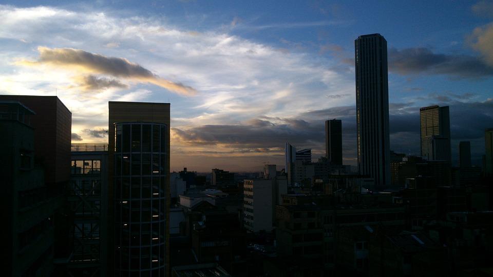 City, Landscape, Sunset, Downtown, Sky, Urban, Bogota