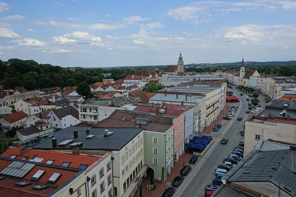 City, Mühldorf, Town Square, Homes, Downtown
