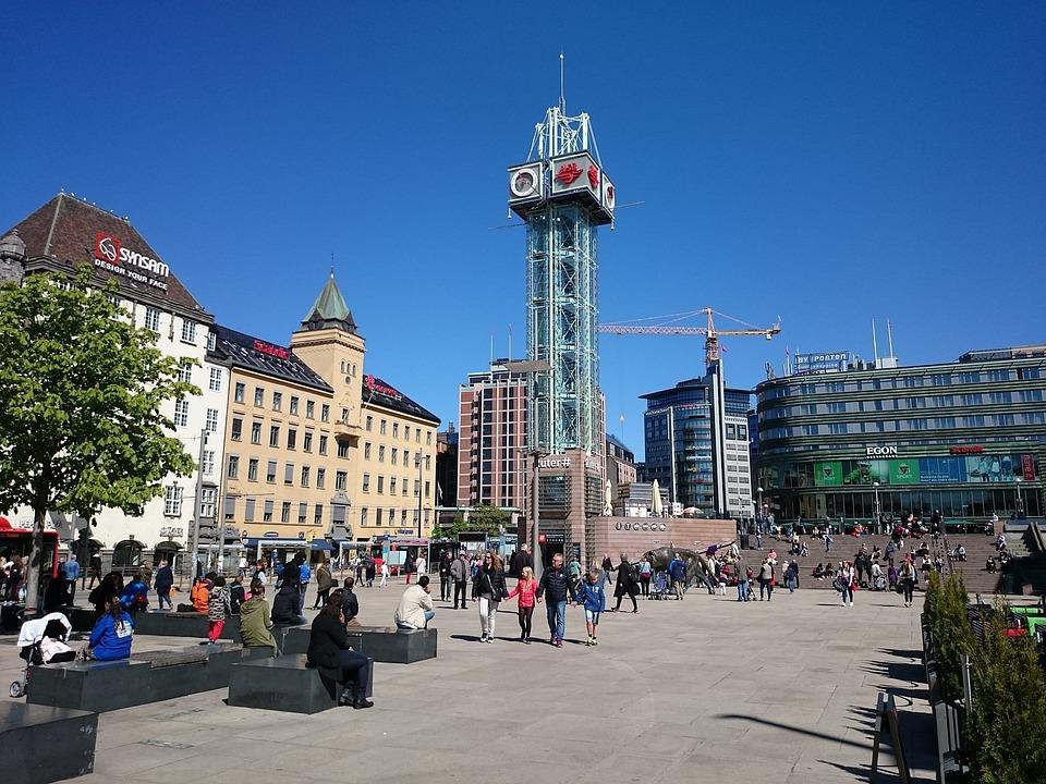 Oslo, Downtown, City, Architecture, Modern, Cityscape