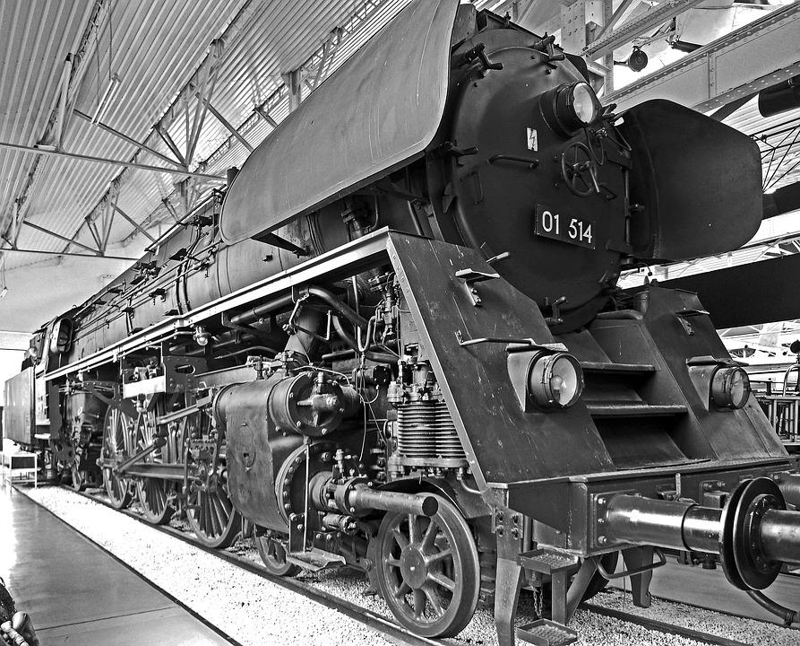 Steam Locomotive, Cold, Museum, Hall, Br01, Dr