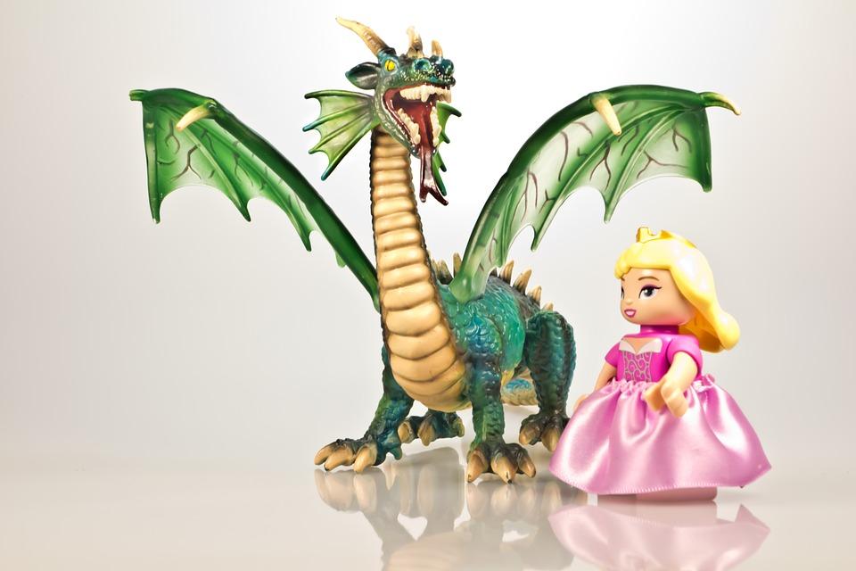 Dragon, Fairy Tales, Princess, Fire-breathing Dragon