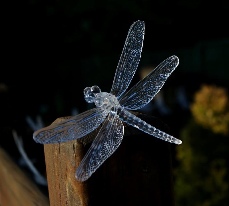 Dragon Fly, Solar Light, Garden, Plastic, Solar, Light