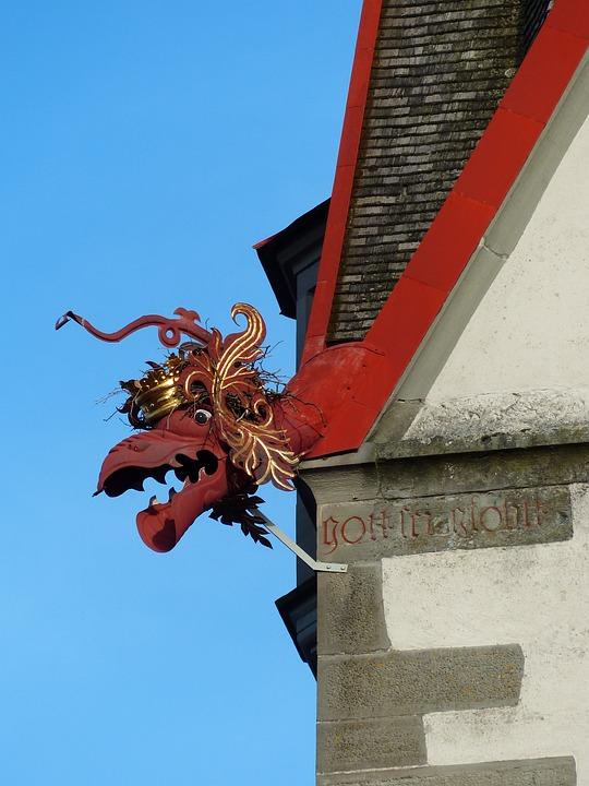 Gargoyle, Dragon, Crown, Stein Am Rhein