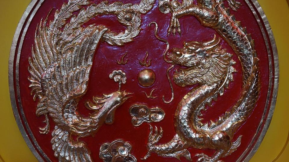 Red, Dragon, Swan, Circle