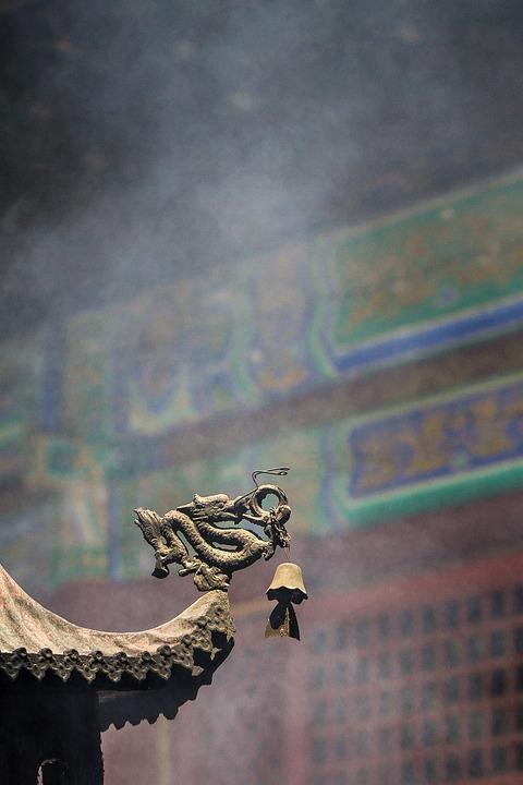 Dragon, Temple, Incense Burner