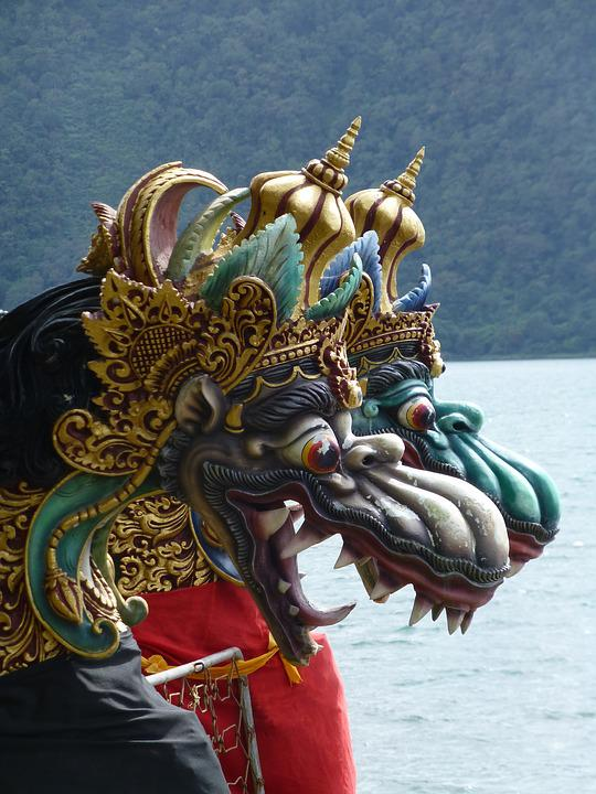 Dragons, Temple, Historical Monument, Asia