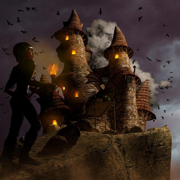 Dragons, Castle, Knight, Fire-breathing Dragon