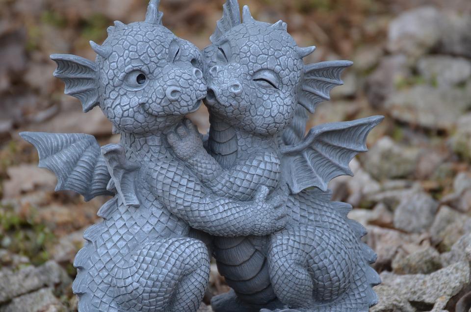 Dragons, Stone Figure, Sculpture