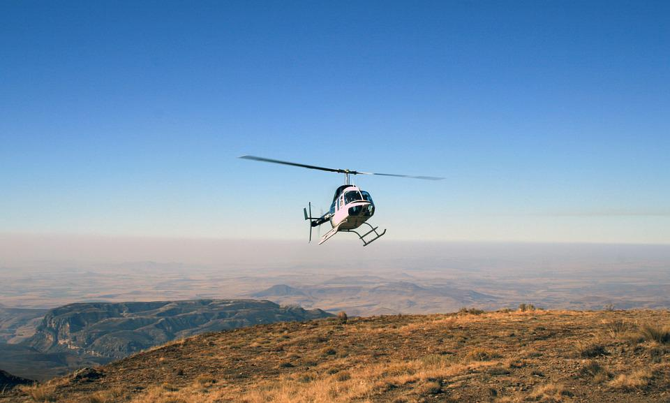 South Africa, Mountains, Drakensberg, Helicopter, Sky