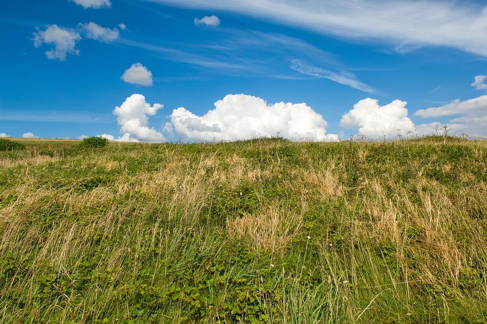 Sky, Clouds, Dramatic, Landscape, Grass, Hill