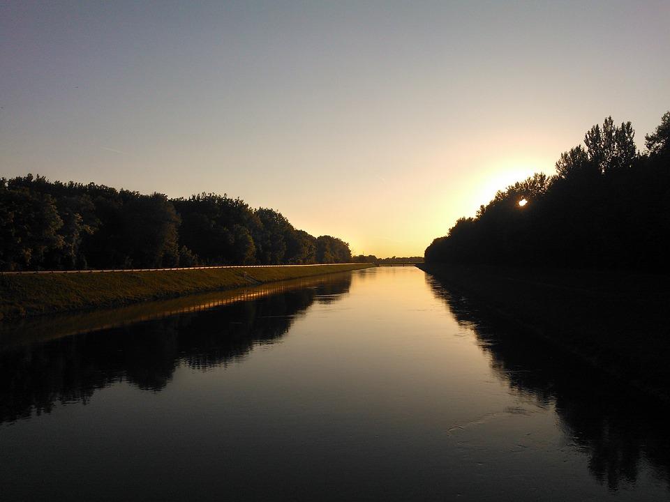 River, Drava, Croatia, Water, Nature, Reflection