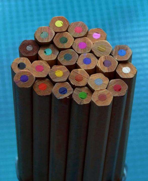 Colored Pencils, Wood, With Coloured Mines, Draw, Color