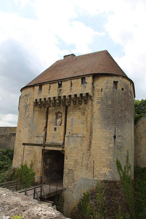 Caen, Castle, Normandy, Medieval, Gateway, Drawbridge