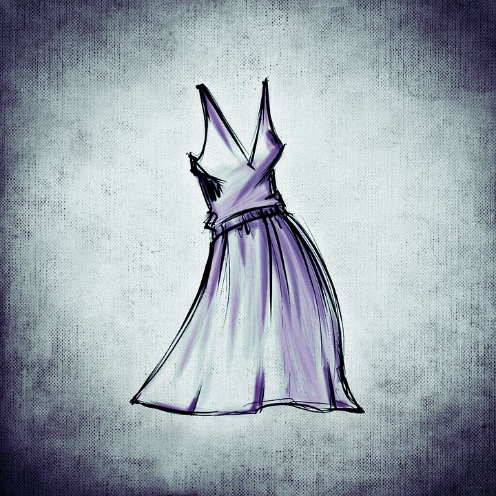 Fashion, Design, Drawing, Dress, Abstract