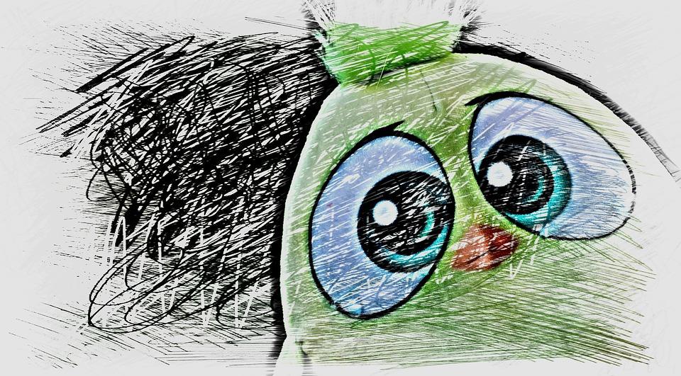 Bird, Birdie, Drawing, Colorful, Cute, Sweet, Funny