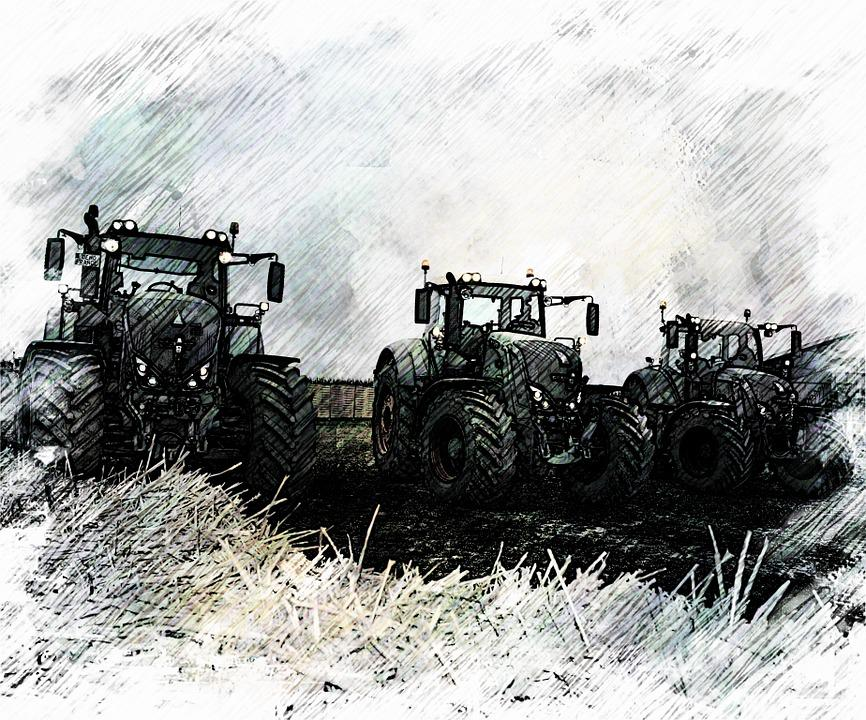 Agriculture, Drawing, Tractor, Fendt