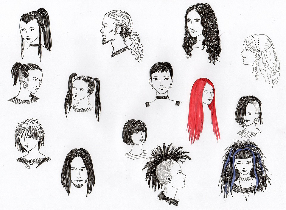 Free Photo Drawing Gothic Hair Hairstyles Underground Heads Max Pixel