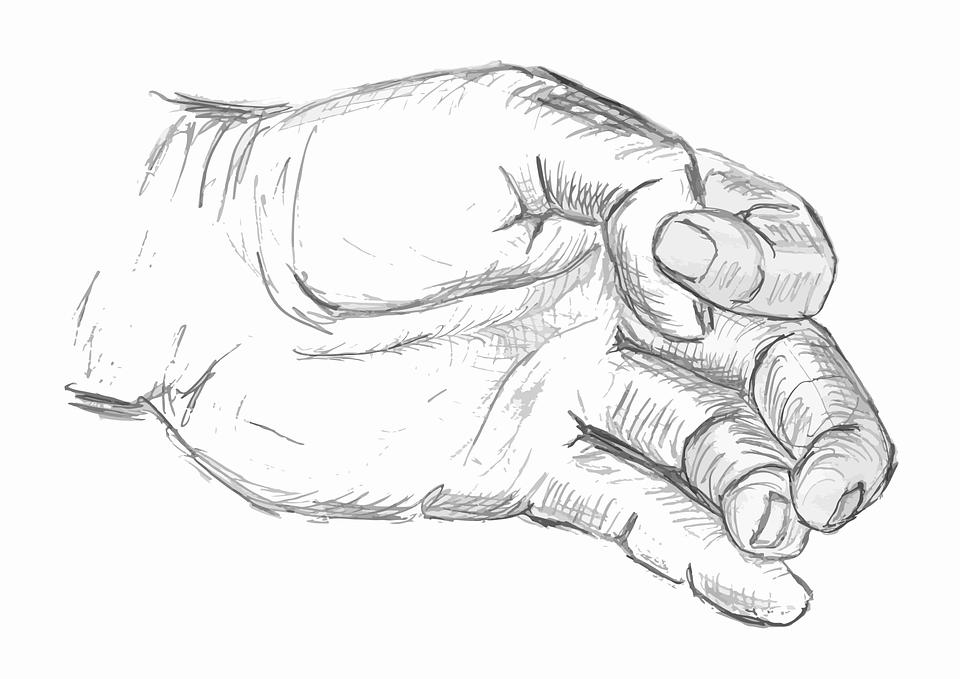 Drawing, Hand, Pencil, Sketch