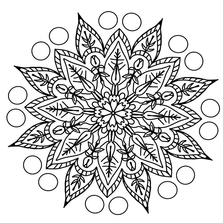 Free photo Drawing Pattern Coloring Page Mandala Pencil ...