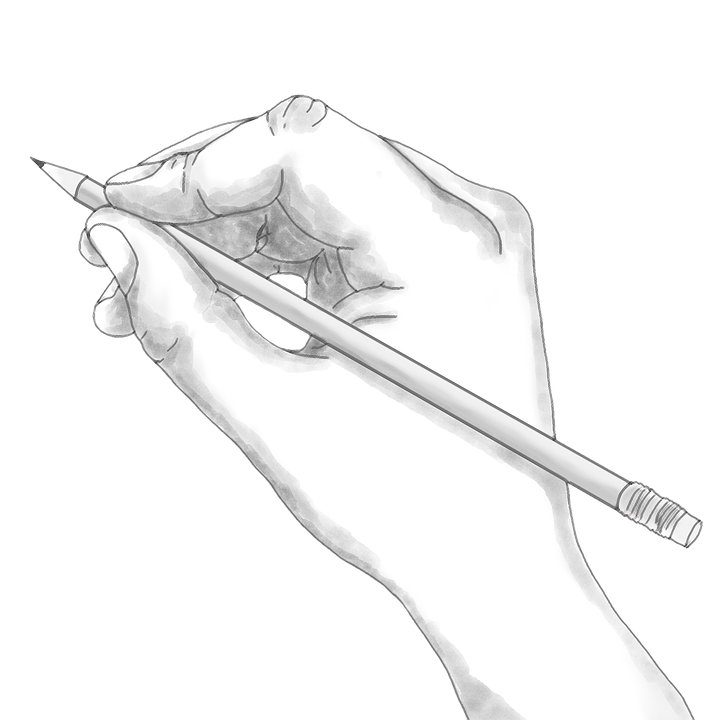 Hand, Pencil, Holding, Sketch, Drawing, Project, Work
