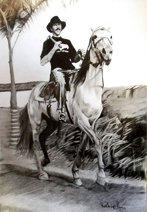Roberto Machado, Itabirito, Horse, Drawing