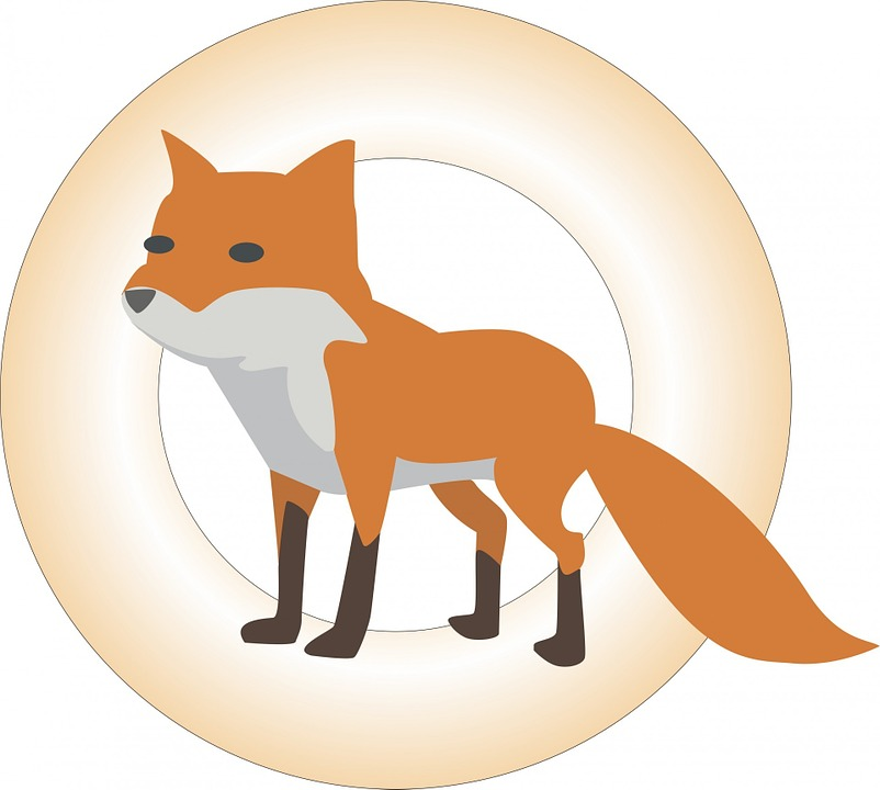 Fox, Animal, Drawing, Circle, Wild, Orange, White, Gold