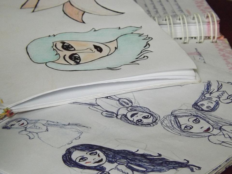 Drawings, Girl, Illustration