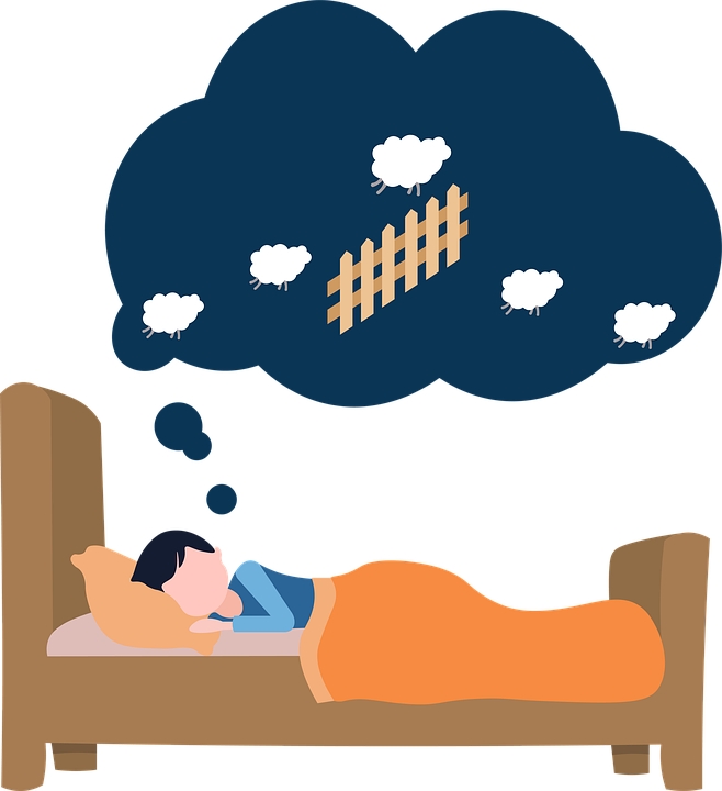 Sleep, Bed, Dream, Counting Sheep, Thought Bubble, Icon