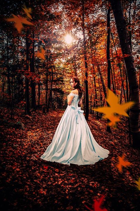 Fantasy, Autumn, Woman, Girl, Forest, Dream, Model