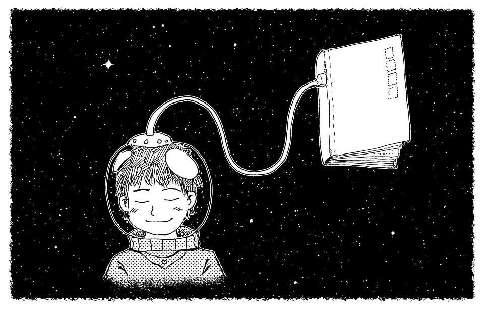 Fairy Tale, Fantasy, Dream, Night, Cosmos, Astronaut