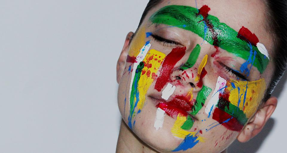 Face, Woman, Paint, Body Art, Portrait, Dreams