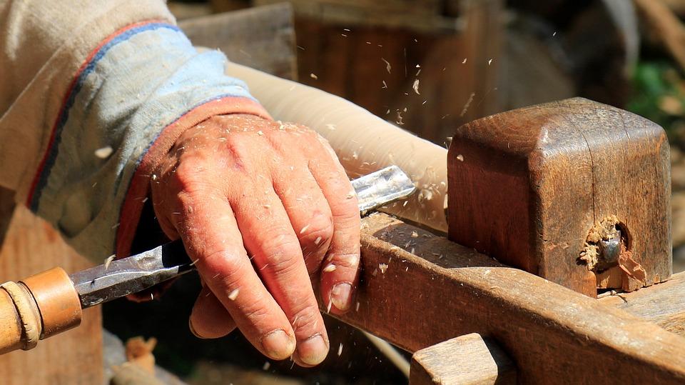 Drechsler, Craftsmen, Tool, Work, Metal, Wood
