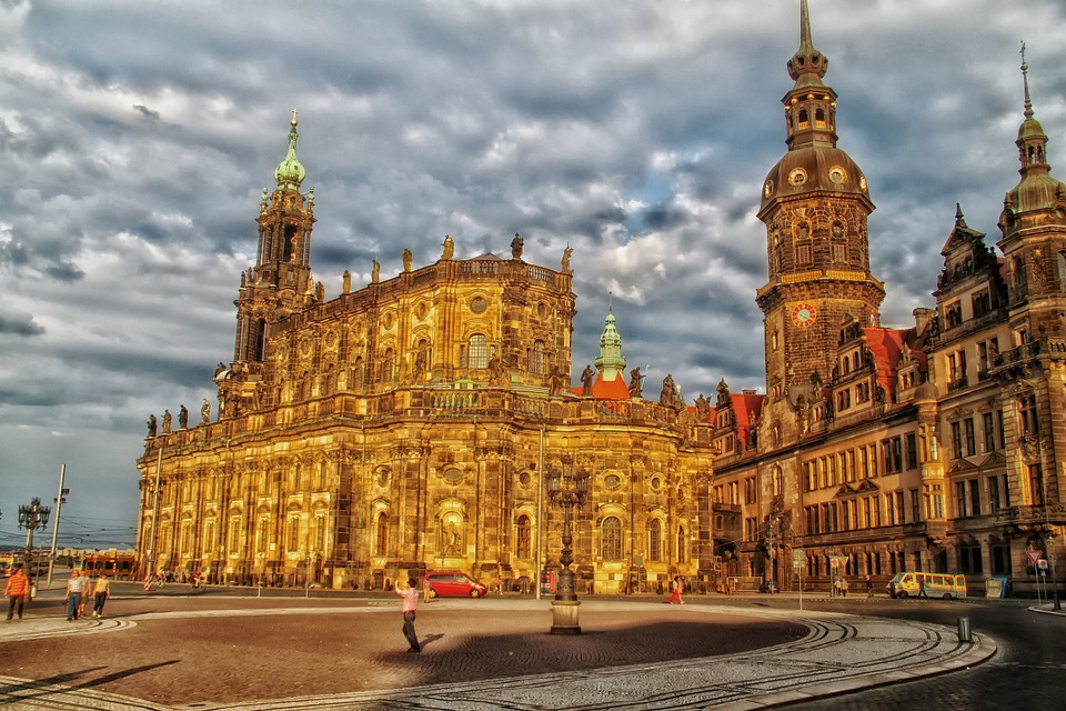 Dresden, Germany, Buildings, Palaces, Architecture, Hdr