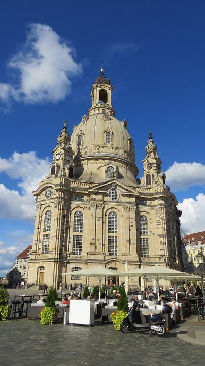 Dresden, Frauenkirche, Marketplace, Old Town, Building