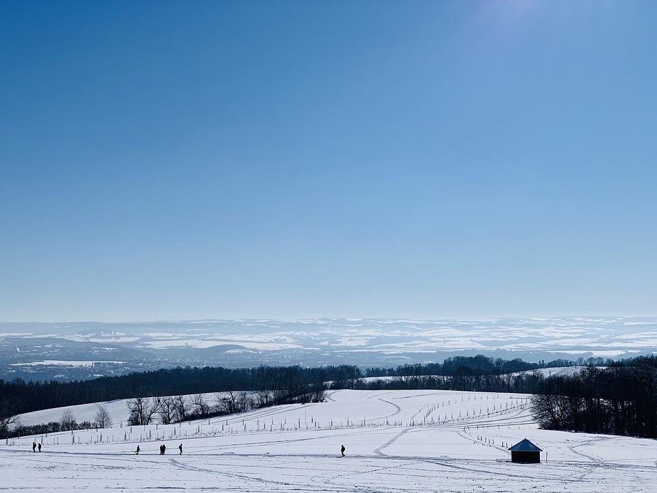 Schönfelder Hochland, Ski Area, Winter, Snow, Dresden