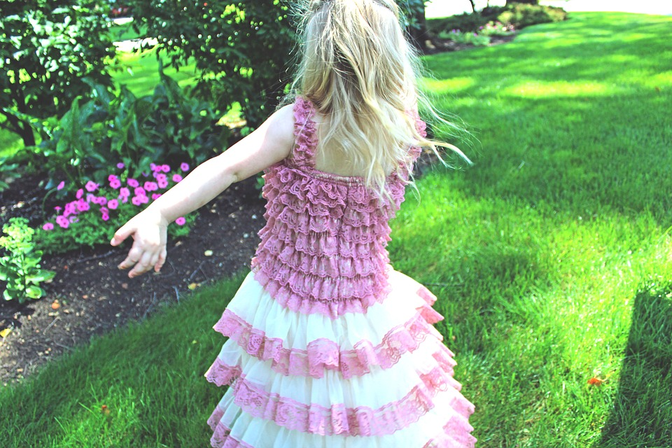 Girl, Pink, Dress, Twirl, Young, Child, Joy, Fun, Cute