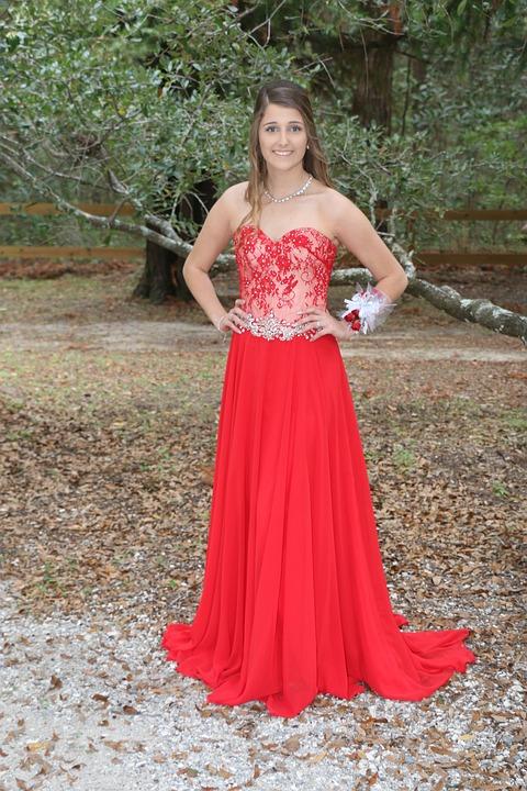 Dress, Prom, Girl, Female, Prom Dress, Elegant