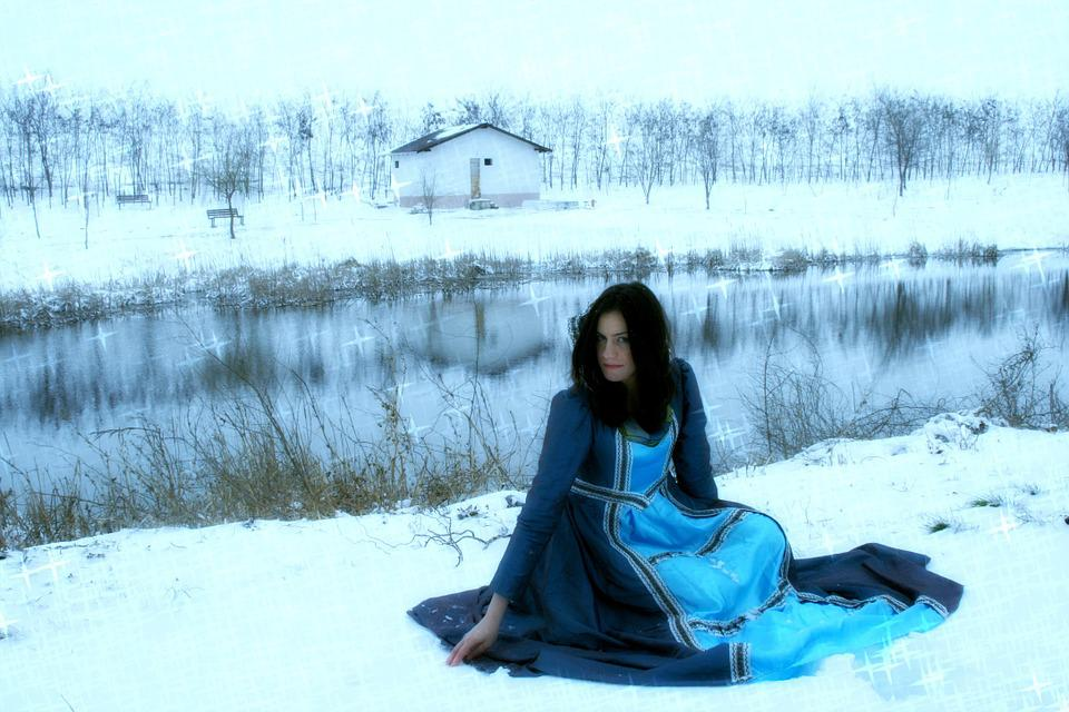 Girl, Princess, Story, Snow, Dress, Nice