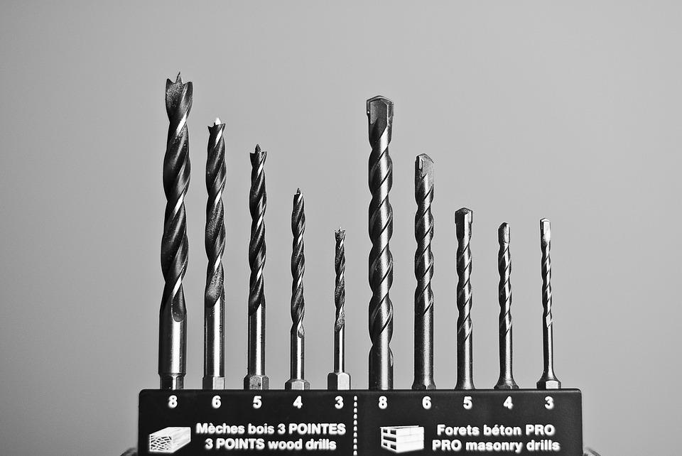Drill, Bits, Tool, Construction, Industry, Steel, Metal