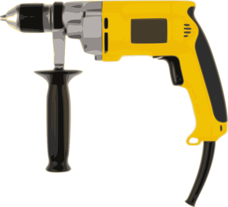 Power Drill, Drill, Boring Machine, Tools, Carpentry