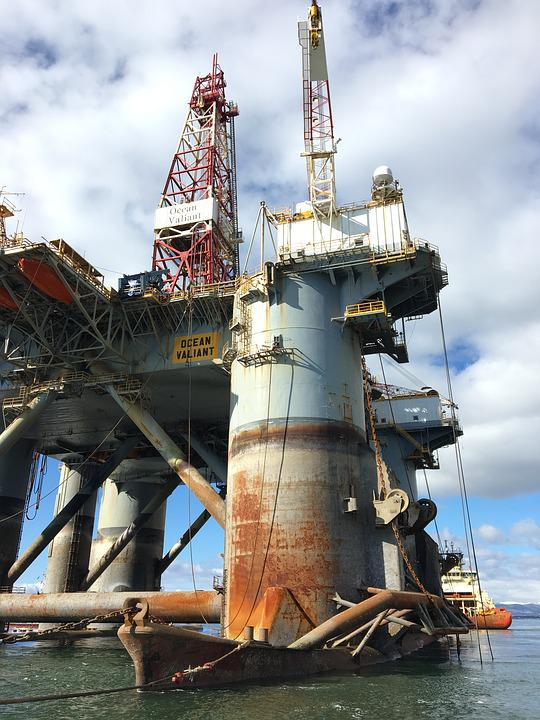 Oil Industry, Industry, Drilling Rig Ocean Valiant