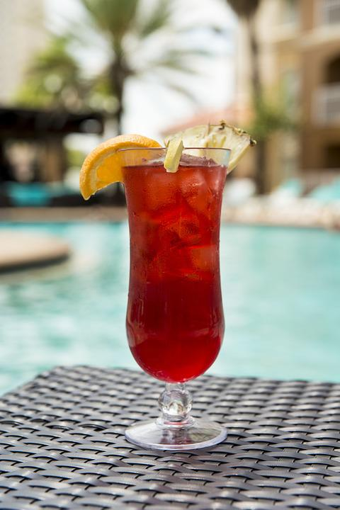 Cocktail, Drink, Poolside, Alcohol, Bar, Glass