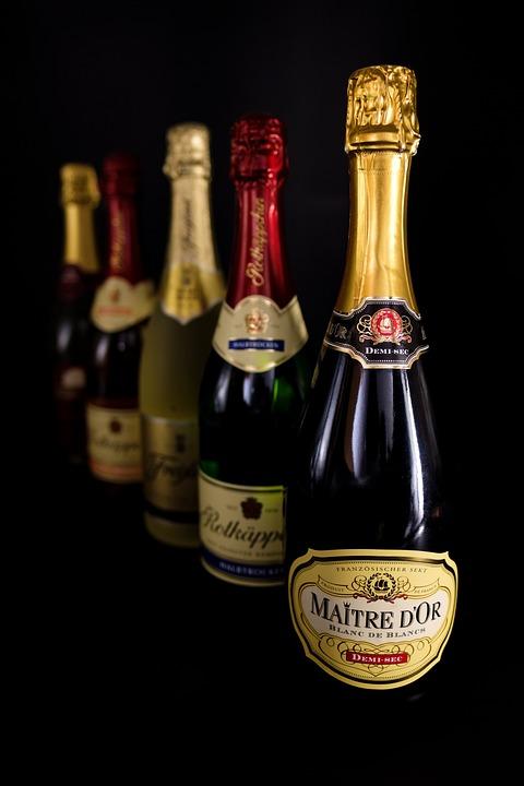 Champagne, Bottles, Alcohol, Drink, Beverages, Spirits