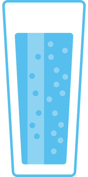 Glass, Water, Drink, Refreshment, Bubble, Costs, Blue