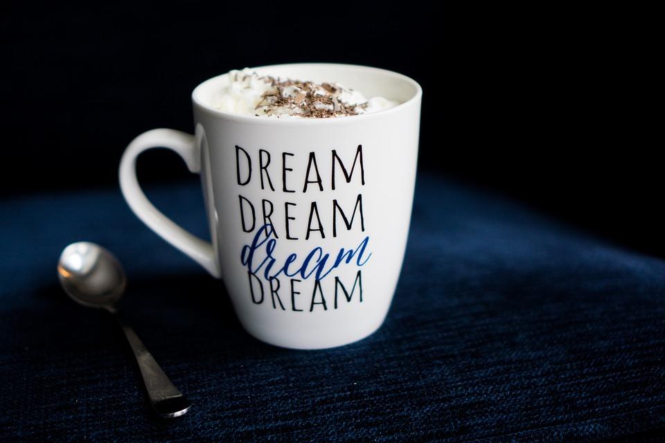 Coffee, Drink, Dawn, Cup, Dream, Spoon, Blue, Chocolate